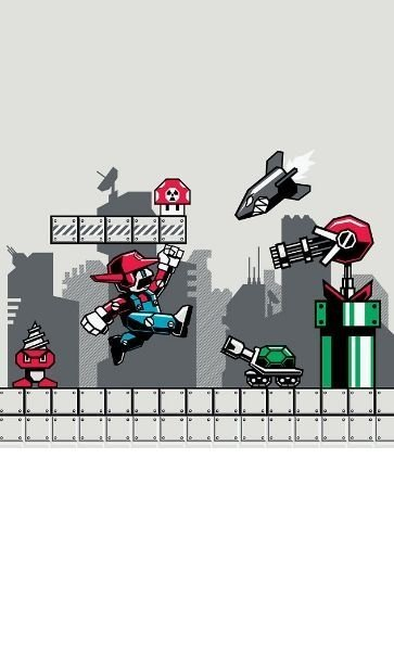 Camiseta Mario Robot