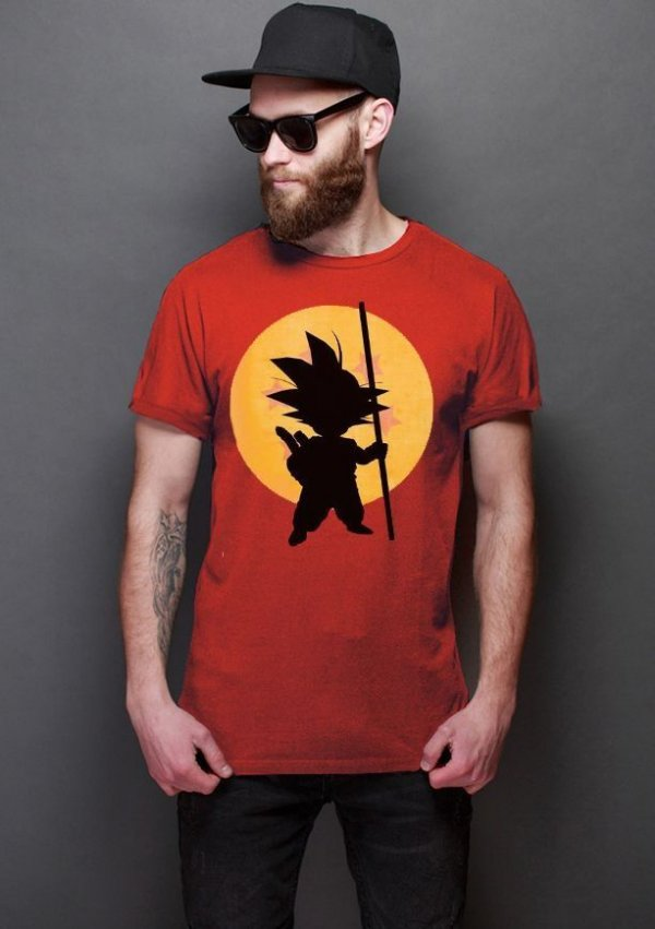 Camiseta Masculina  Dragon Ball Goku - Nerd e Geek - Presentes Criativos
