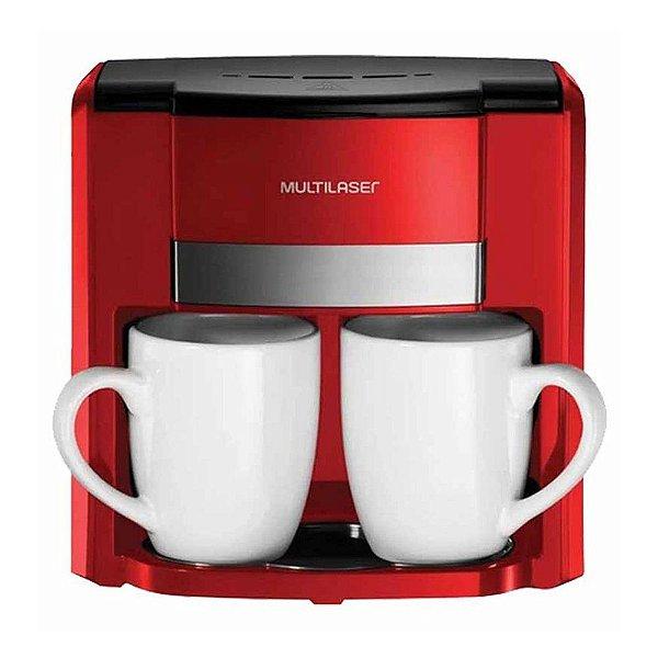 Cafeteira Elétrica 2 Xícaras Vermelho Multilaser 127V BE015