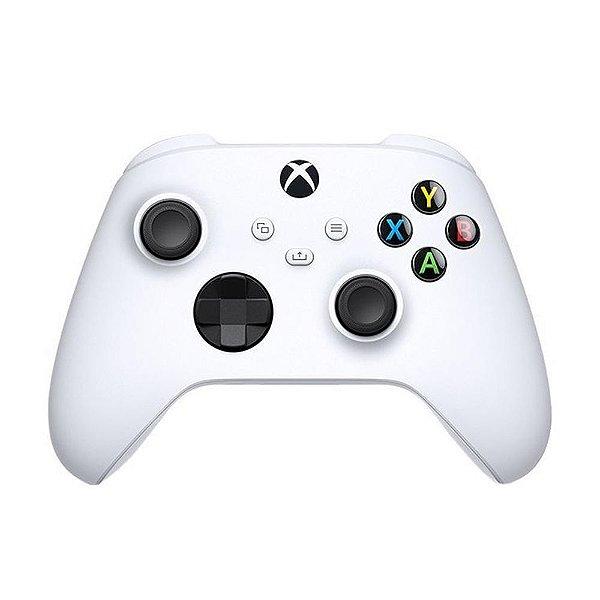 Controle Sem Fio Xbox Series X S, Xbox One, PC com Windows 10 - Branco
