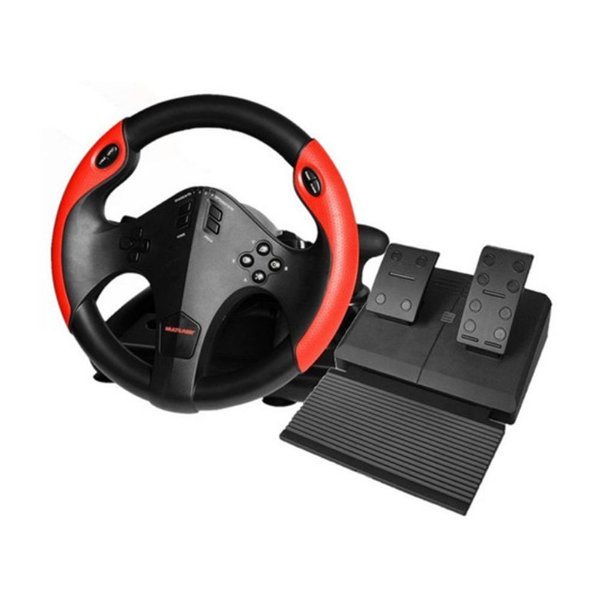 Volante Gamer Ps4 Ps3 Xbox One Pc Multilaser Js087 Mar Pedal