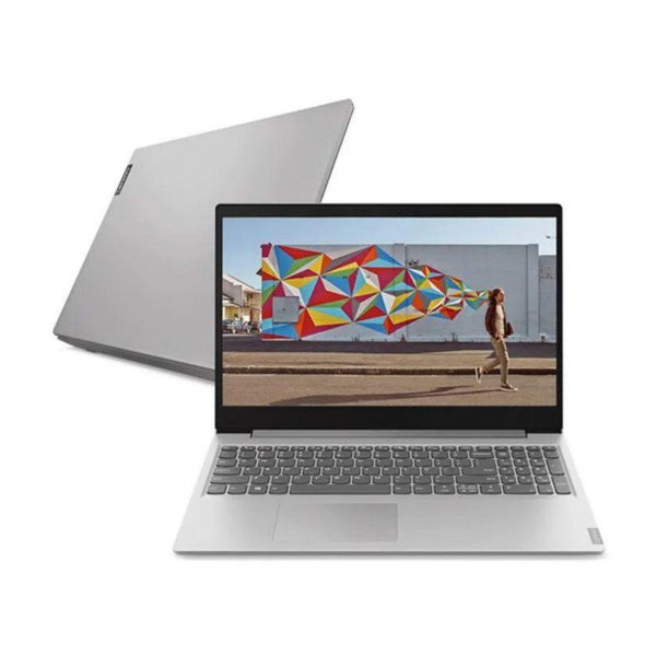 "Notebook Lenovo Ideapad S145-15IGM Intel Celeron 4GB 500GB Linux 15.6"" Prata"