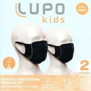 Mascara Lupo Zero Costura Infantil 3 A 6 Anos Virus Bac-off
