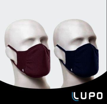 Mascara Lupo Adulto Zero Costura Virus Bac-off Marinho Vinho