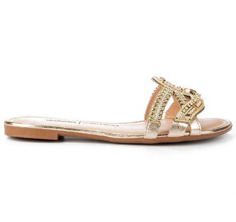 Slide Dakota Brilhos Dourado Z7201