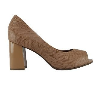 Sapato Peep Toe Bebecê Feminino 6013-544