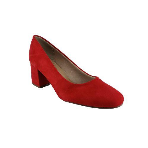 Sapato Bico Redondo Beira Rio 4245.100 Vermelho