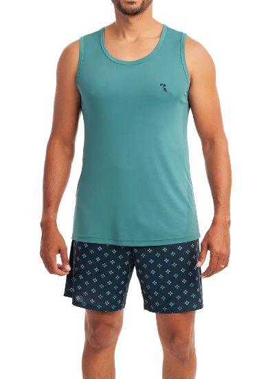Pijama Paulienne H.092.63.b Curto Regata Masculino Microfiba