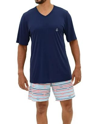 Pijama Paulienne F.320.63.b Curto Masculino Liganete