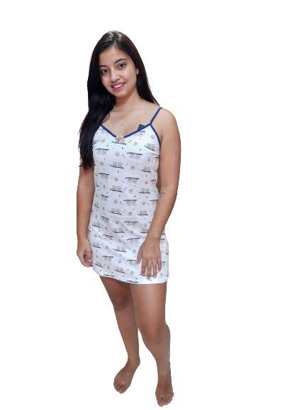 Pijama Paulienne J.132 63.a Camisola Em Algodao Regulavel