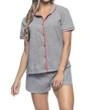 Pijama Zee Rucci Zr3203-009-147 Blusa Com Botoes E Short