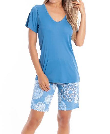 Pijama Paulienne C.072.63.b Bermuda Manga Curta Liganete