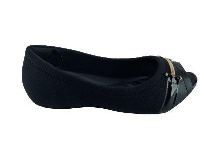 Sapatilha Peep Toe Comfortflex 20-71304 - Preto