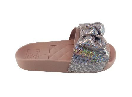 Chinelo Slide Infantil Molekinha 2311.103 - Rosa/prata