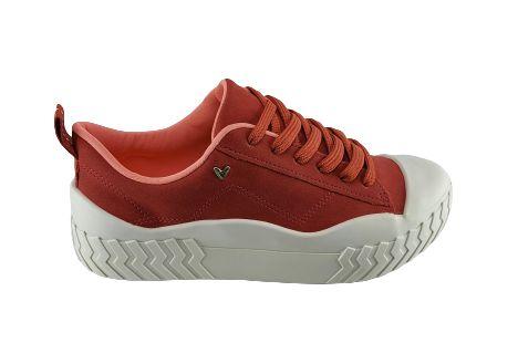 Tenis Flatform Mississipi Q3091 Cores - Verde/goiaba