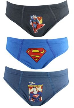 Cueca Lupo Kids 130-089 Slip Super Man Kit C/3