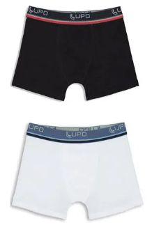 Cueca Lupo Kids 141-088-0930 Boxer Algodao Kit C/2