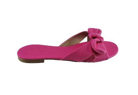 Sandalia Rasteira Feminina Akazzo 2598l Lona Pink