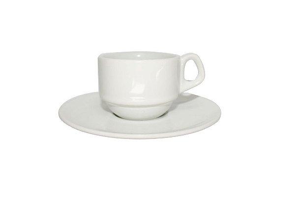 Xícara de Porcelana Sem Pires 200 ml Branca para Sublimação
