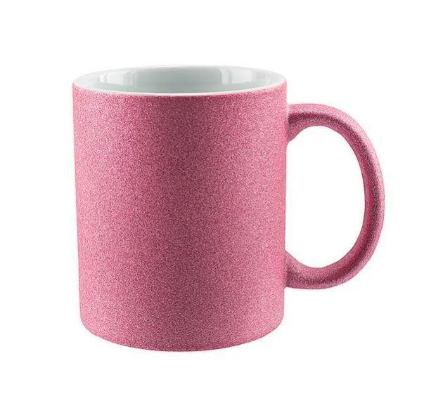Caneca com Glitter para Sublimação - Rosa