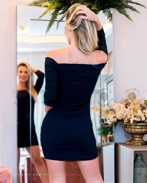 Vestido latex black