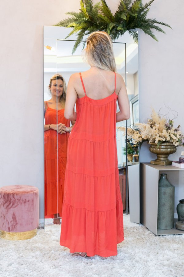 Vestido laranja Ateen