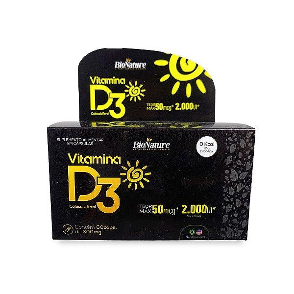 Suplemento Alimentar Vitamina D3 Bio Nature 60 caps 300 Mg