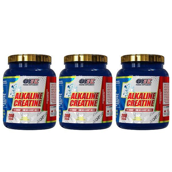 Creatina Alcalina Creapure 600g One Pharma kit 3