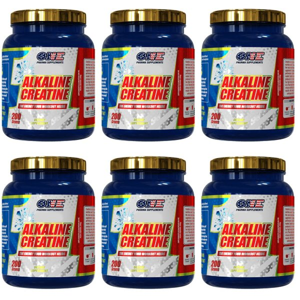 Creatina Alcalina Creapure 1200g One Pharma kit 6