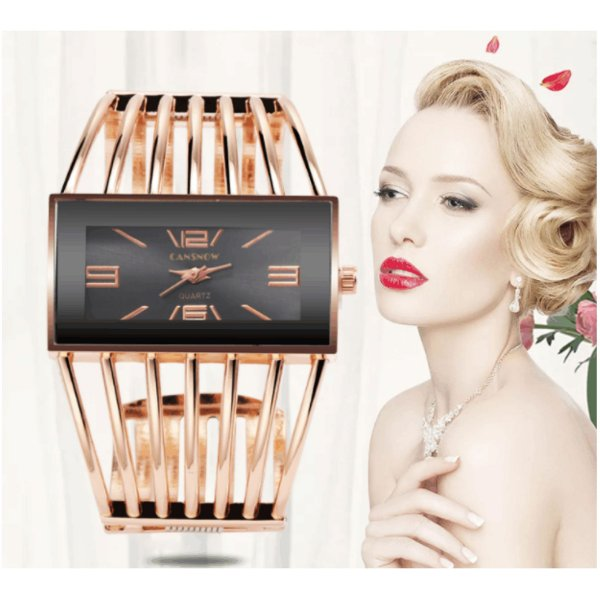 Compre1 e Leve 2: Relógio Pulseira Luxo - Quartzo - Analógico - Frete Grátis