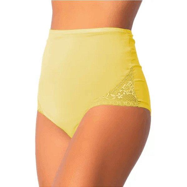 Kit 4 Calcinhas Hot Pants - Cós Alto - Anti-culote - Detalhes em Renda - Até GG