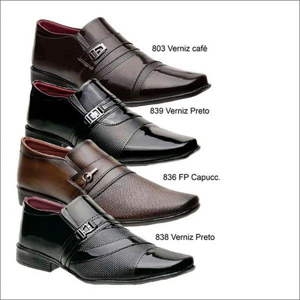 Box Showpromodia-: Kit com 4 Pares de Sapatos Sociais - Tamanhos de 37 a 44