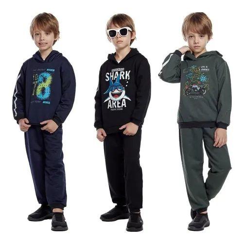 - Box Olanella: Kit com 5 Conjuntos de Moletom com Capuz - Tamanho de 1 a 8 anos