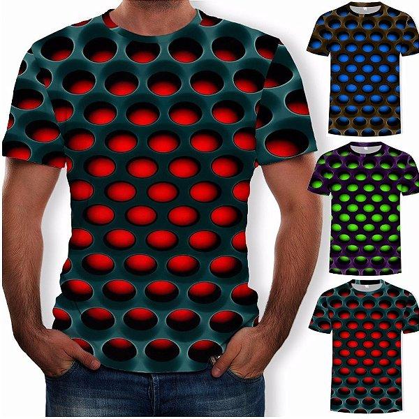 Box Olanella: - Camiseta Masculina 3D - Tamanho até GG