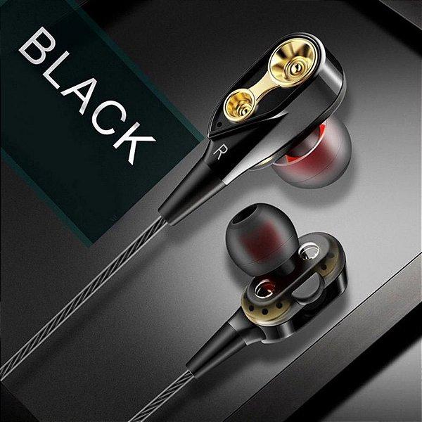 Box Simply: Kit com 5 Fones de Ouvido c/Fio - Microfone - Ultra Resistente - Estéreo - 3 Cores - Frete Grátis