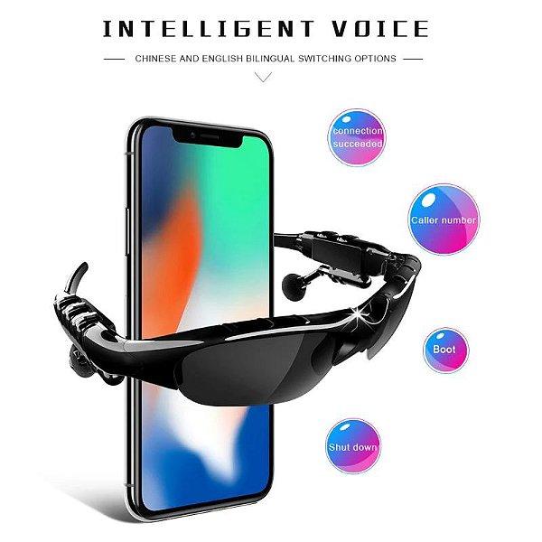 Box Showpromodia: Óculos de Sol Fone de Ouvido Bluetooth - Unissex - 2 Cores - Frete Grátis