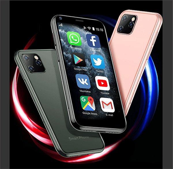 Mini Celular Soyes Mede 8,5cm  e Pesa 54 gramas - Touch - WhatsApp e Redes Sociais - Brinde: Capa + Protetor de Tela  + Cartão de Memória 32GB- Frete Grátis