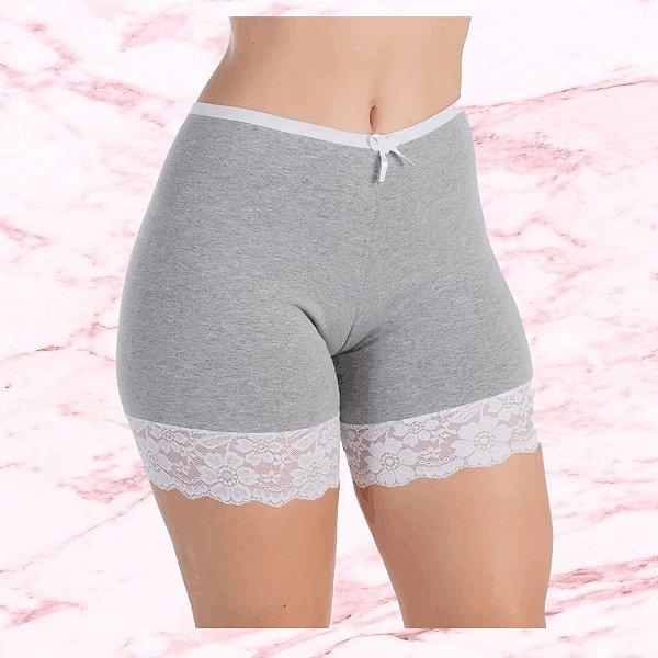"""-Max Plus-: Kit com 5 Calcinhas Shorts em Algodão """"Brumas"""" - Antialérgico - 5 Cores - Até Plus Size"""