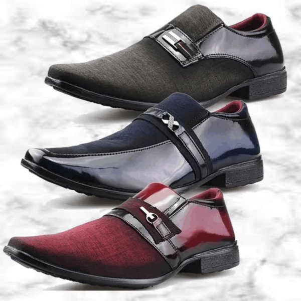 -Men Shoes-: Kit com 3 Pares de Sapatos Sociais Neway - 3 Modelos - Até 44