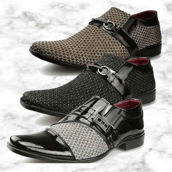 -Men Shoes-: Kit com 3 Pares de Sapatos Neway Fivela - 3 Modelos - Até 44