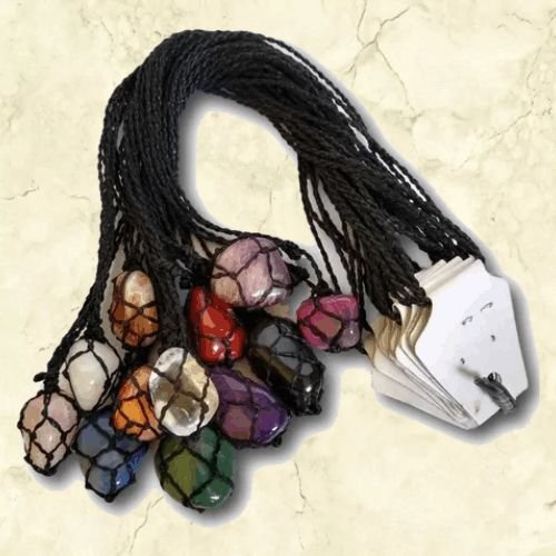 -Esoterix-: Kit 12 Colares de Pedra na Rede - Misto - Pronta Entrega