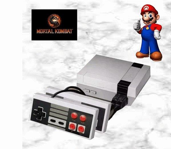 Video Game Retrô Mini com 620 Jogos do Super Nintendo - 2 Controles -