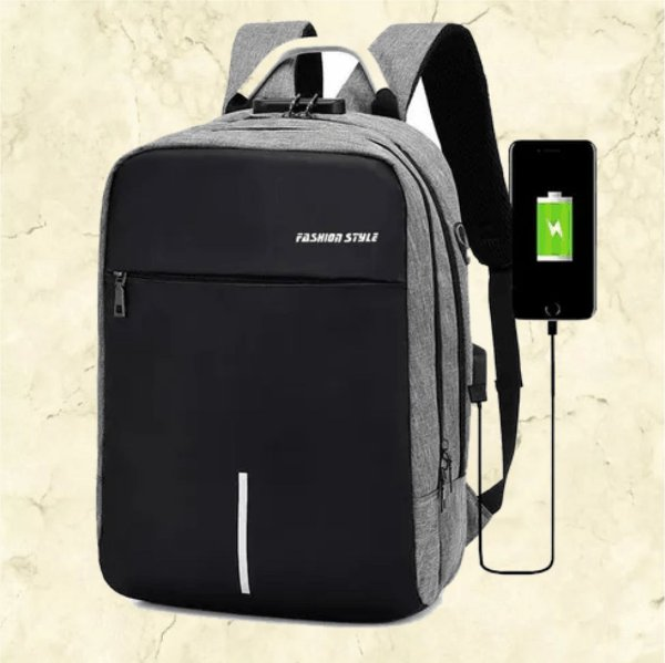 -Box Sucesso Shop - Mochila Anti-Furto p/Notebook 15,6 -  Saída para USB - Tam. 46x26x10 - Frete Incluso