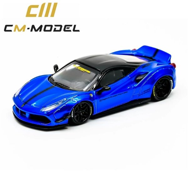 Ferrari Liberty Walk Azul - 1:64 - CM Model