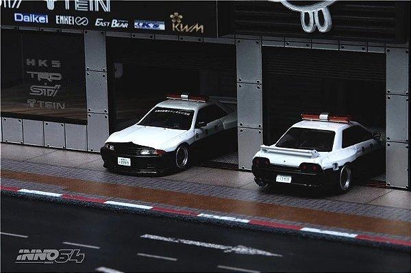 Nissan Skyline GTR (R-32)  Police Car Drift - 1:64 - INNO64