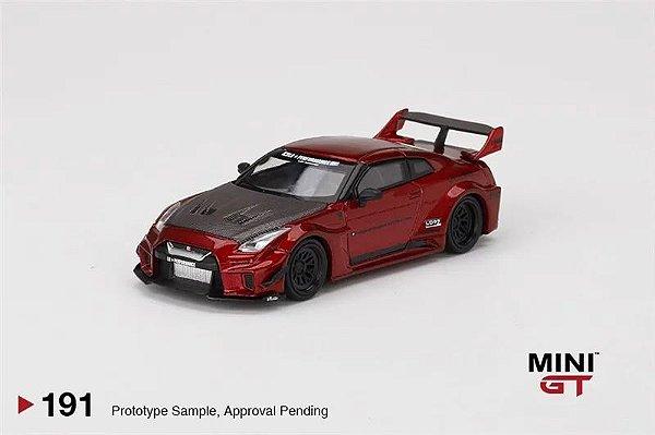 Nissan GTR Liberty walk vermelho - 1:64 - Mini GT