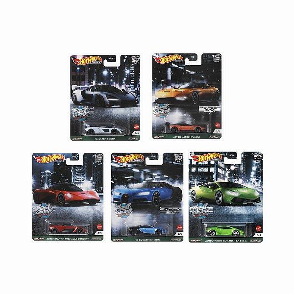 Set Car Culture Exotic Envy 5 carros - 1/64 - Hotwheels
