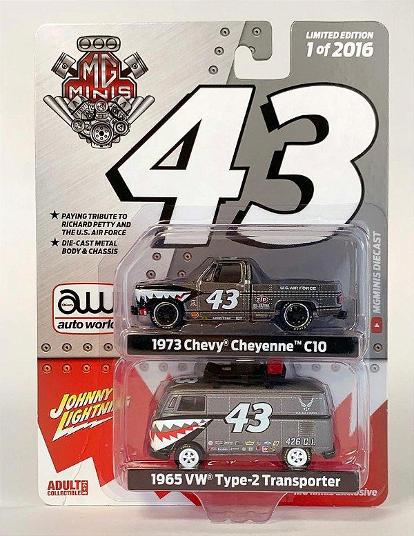 Volkswagen Kombi e Chevy Cheyenne MG minis Exclusive - 1:64 - AW / JL
