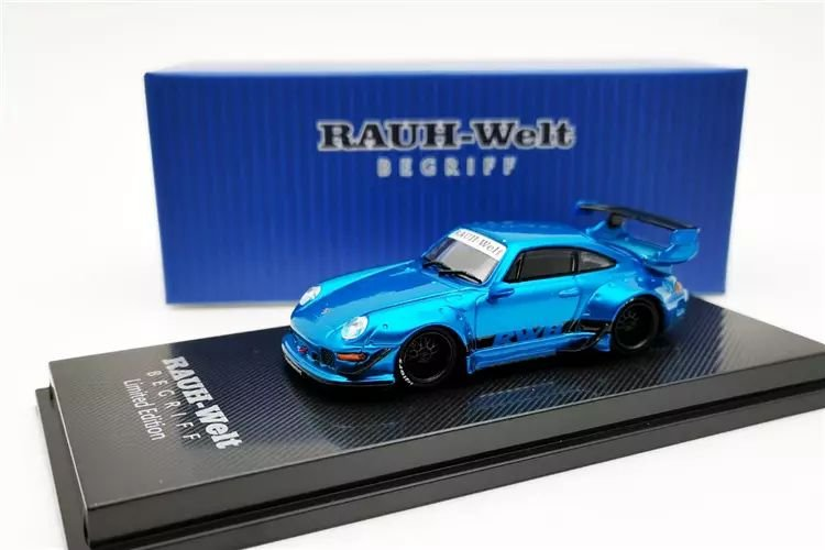 Porsche 993 RWB Azul - 1:64 - CM Model