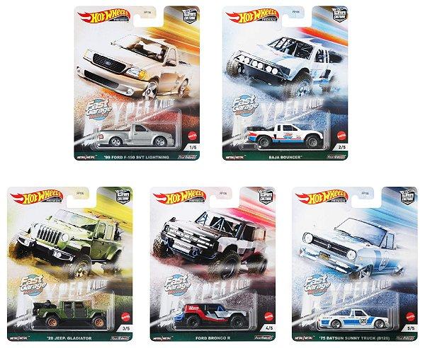 Set Car Culture Hyper Haulers 5 carros - 1/64 - Hotwheels